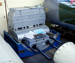 Hawker Hunter gun pack,the Boscombe Down Aviation Collection, Old Sarum Airfield.