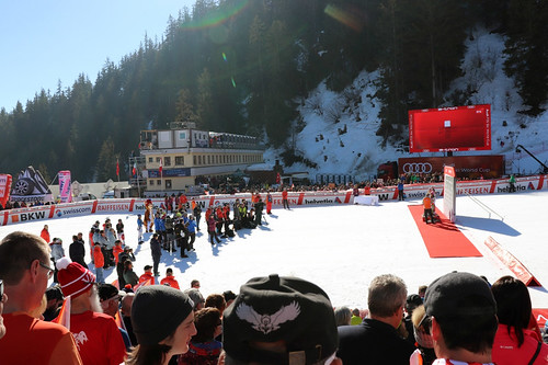 Ski World Cup, podium. Crans Montana, 24/02/2019