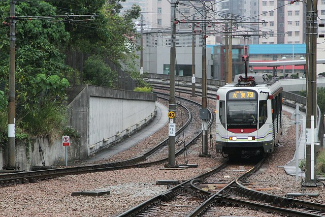 Phase I LRV 1011 on route 751 arrives at Town Centre  stop