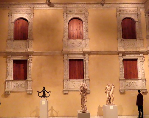 Renaissance Spanish Palazzo courtyard in the  Metropolitan Museum of Art NYC