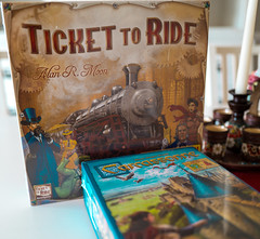 Carcassonne and Ticket to Ride