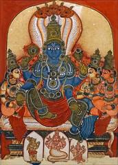Vishnu sur le serpent Ananta (musée Guimet, MNAAG, Paris)