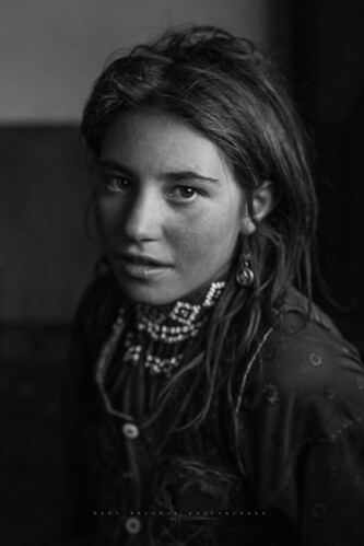 Wakhi little girl. Sharad e Borghil. Wakhan corridor, Afghanistan.