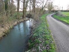 River vs road - same width