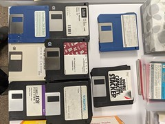 Floppies, paper and data archive, Computer History Museum, Mountain View, California, USA