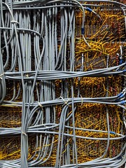 Big iron wiring 2, secret hardware archive, Computer History Museum, Mountain View, California, USA