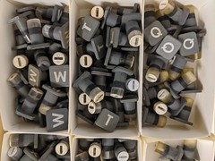 Keycaps 1, secret hardware archive, Computer History Museum, Mountain View, California, USA