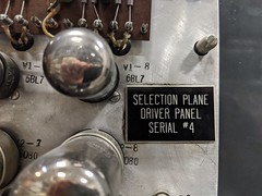 Selection Plane sign, secret hardware archive, Computer History Museum, Mountain View, California, USA