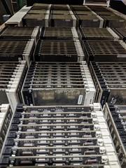 Serried ranks 2, secret hardware archive, Computer History Museum, Mountain View, California, USA