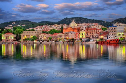 Daybreak at Mytilene's port