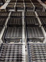 Serried ranks 3, secret hardware archive, Computer History Museum, Mountain View, California, USA