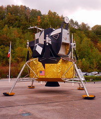 Replica Lunar Excursion Module, La Coupole, Helfaut-Wizernes, Pas-de-Calais, France. - Photo of Wisques