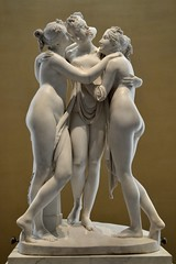 Antonio Canova (1757-1822) - The Three Graces, Woburn Abbey version (1814-1817) front close up, Victoria and Albert Museum, August 2013