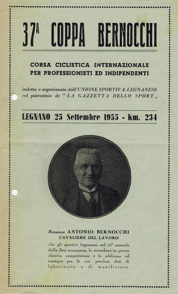 37° Coppa Bernocchi 1955