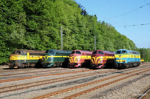 2009   NMBS 5212, TSP 202.020, TSP 1603, SMMN 1604 en TUC- Rail 5529 te Ciney
