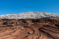 Wavy Sandstone and Desert Snow