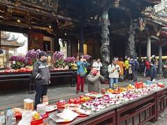 Świątynia Longshan w Tajpej, w przedostatni dzień Nowego Roku
