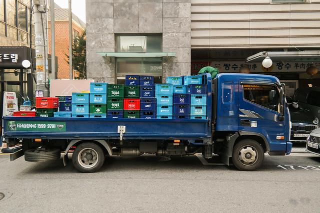 주류 배송 트럭