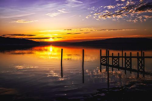 Sunset on the Isle of Reichenau