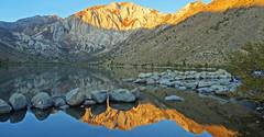 Reflection of Sunrise at Convict Lake 10-19