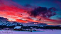 Stanley corral winter sunset