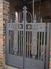 Minyip. Entrance gates to the Anglican Church built in 1932. The first wooden Anglican Church in Minyip was erected in 1899.