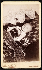 Post-mortem photography of a baby