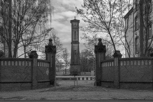 Burg, Uhrturm an der Alten Kaserne