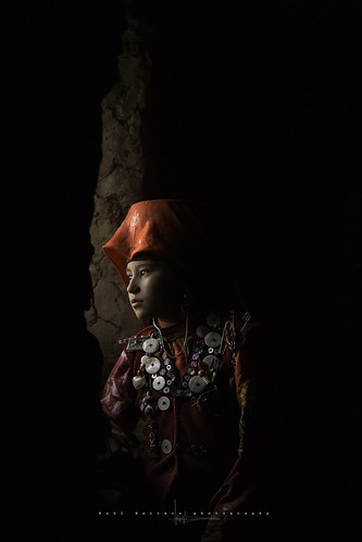 Kyrgyz girl in Seki. Pamir Mountains, Afghanistan.