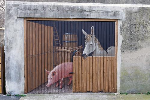 Venterol (Drôme) : portail basculant