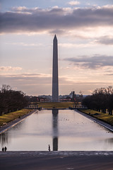 Early morning at the Lincoln Memorial Reflecting Pool