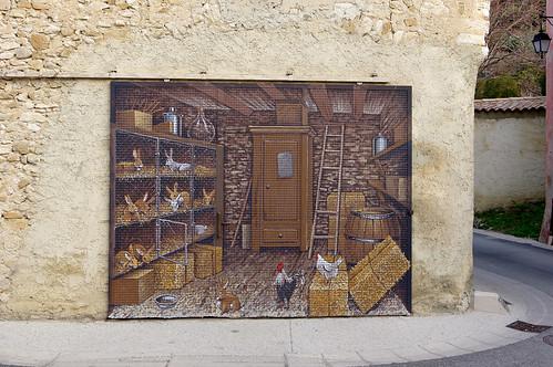 Venterol (Drôme) : portail coulissant