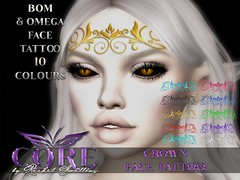 CORE CROWN FACE TATTOO