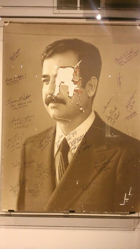 Saddam Hussein Portrait, General George Patton Museum of Leadership  11/12/2013