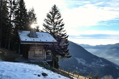 Chalet over the valley