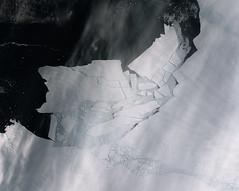 Iceberg shattered