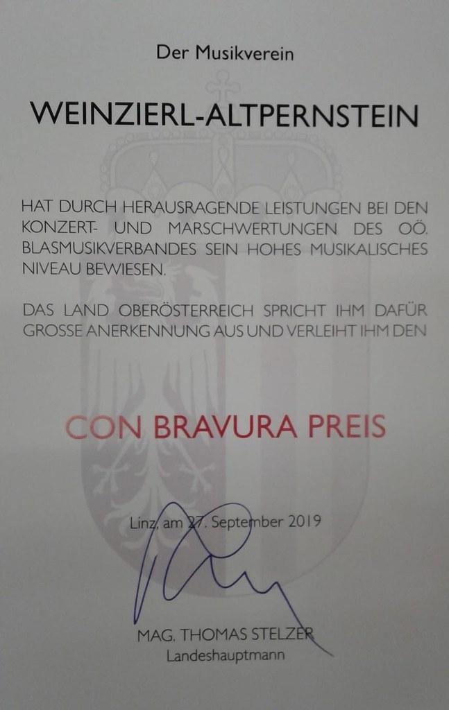 ConBravura Preisverleihung am 27. September 2019