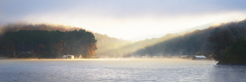 First Sunbeams Hitting Lake Guntersville in the Morning