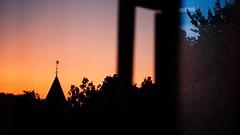 sunset and night light