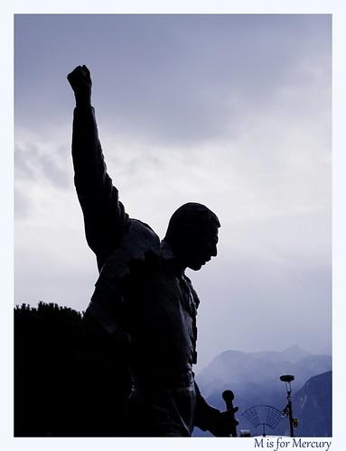 Magnificent musician Mercury in Montreux