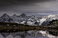Spiegelsee in front of Dachstein mountains