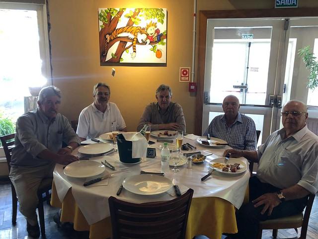 13/02/2020 Almoço com os Srs Montanelli, Erico Ribeiro, fetter Jr, em Pelotas
