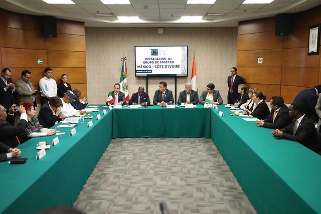 13/02/2020 Instalación Grupo de Amistad México-Côte D'ivoire