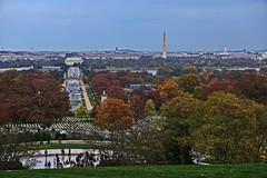 View from Arlington Cemetery towards Washington DC