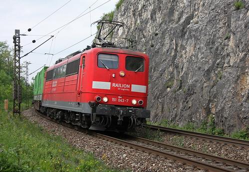 DB Railion 151 043-7 Hangartner Zug, Istein