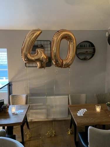 Folieballon Cijfer 40 Bonheur by Lust Barendrecht