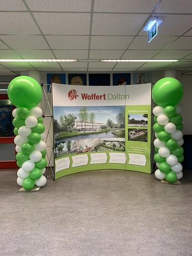 Ballonpilaar Breed Rond Wolfert Dalton Rotterdam