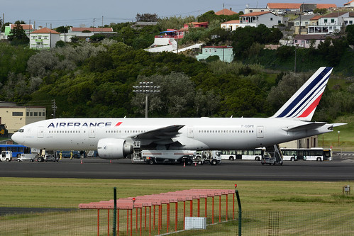 F-GSPE B777-228ER cn 29006 Air France 170702 Lajes Field 1001
