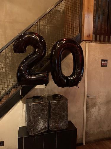 Folieballon Cijfer 20 Cafe in the City Rotterdam