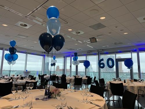 Tafeldecoratie 6ballonnen Intell Hotel Mainport Rotterdam
